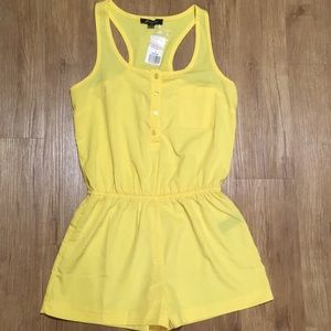 NWT Forever 21 yellow Romper